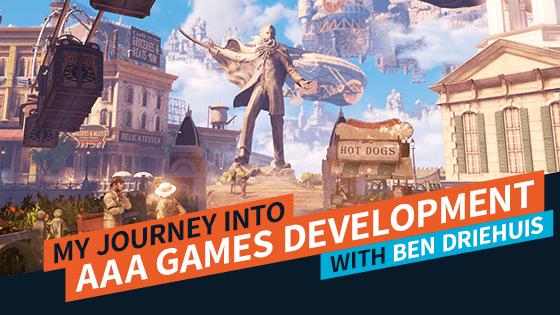 My Journey into AAA Games Development - Ben Driehuis Feature Image | AIE Workshop