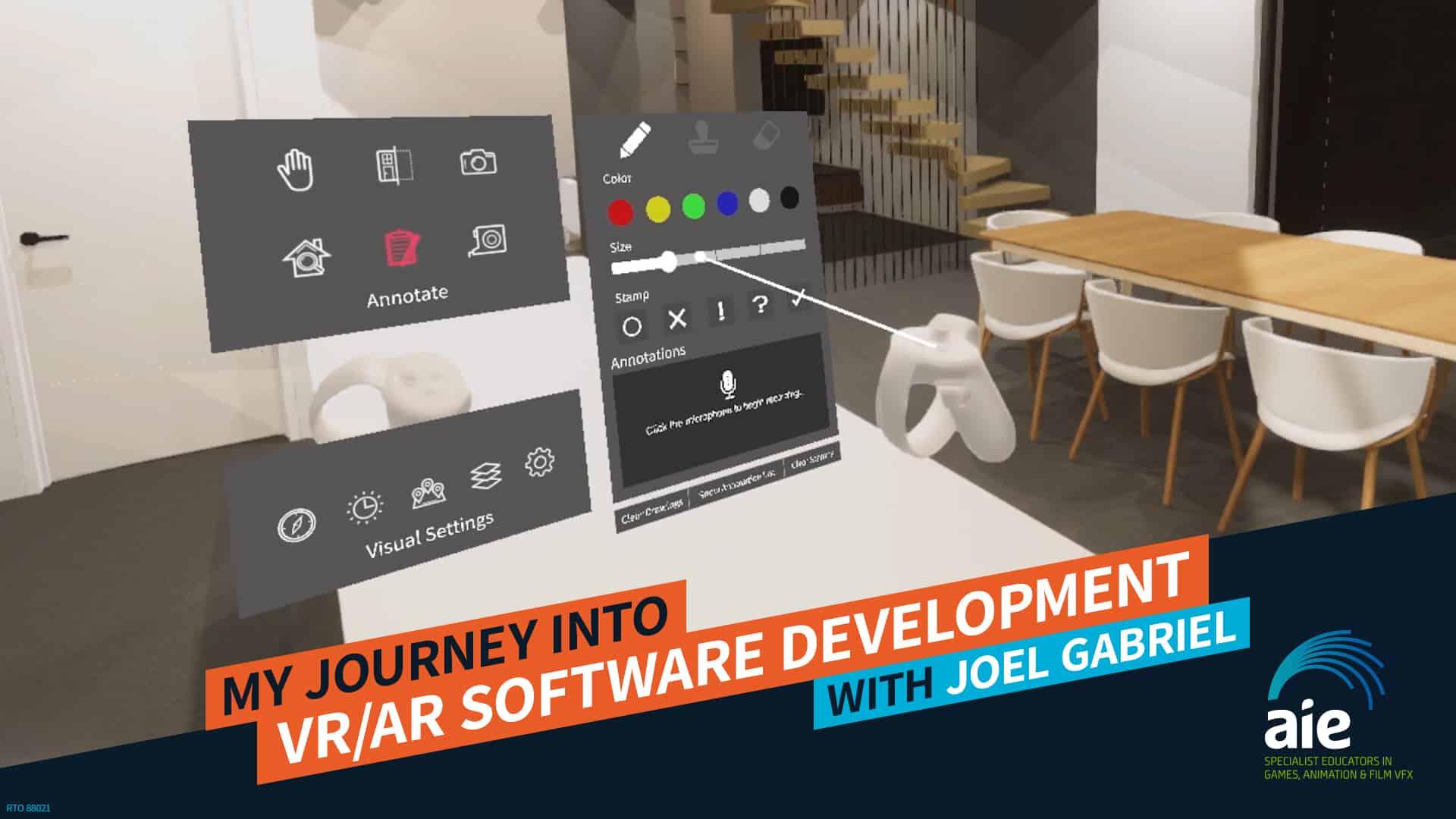 My Journey into VR/AR Software Development – Joel Gabriel   AIE Workshop